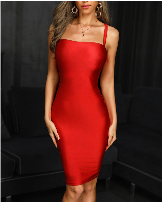 High Quality 2019 Women Red Slash neck Spaghetti Strap Bandage dress Vestidos Celebrity evening party bodycon dresses
