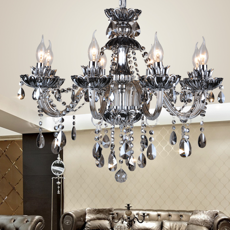 buy 12 modern kitchen chandeliers smoke gray candle chandelier moderne. Black Bedroom Furniture Sets. Home Design Ideas