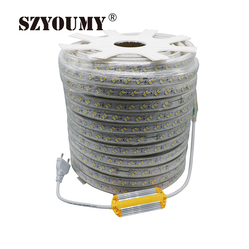 Honest Szyoumy Led Strip Cct Cool White & Warm White 120leds/m 220v 5730 Color Temperature Dual White Dimmable Flexible Tape Light 50m Latest Technology Lights & Lighting