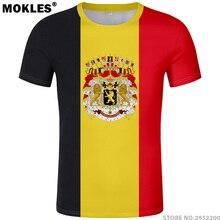 fb1c4728b BELGIUM t shirt free custom name number diy bel belgique belgien black t- shirt be