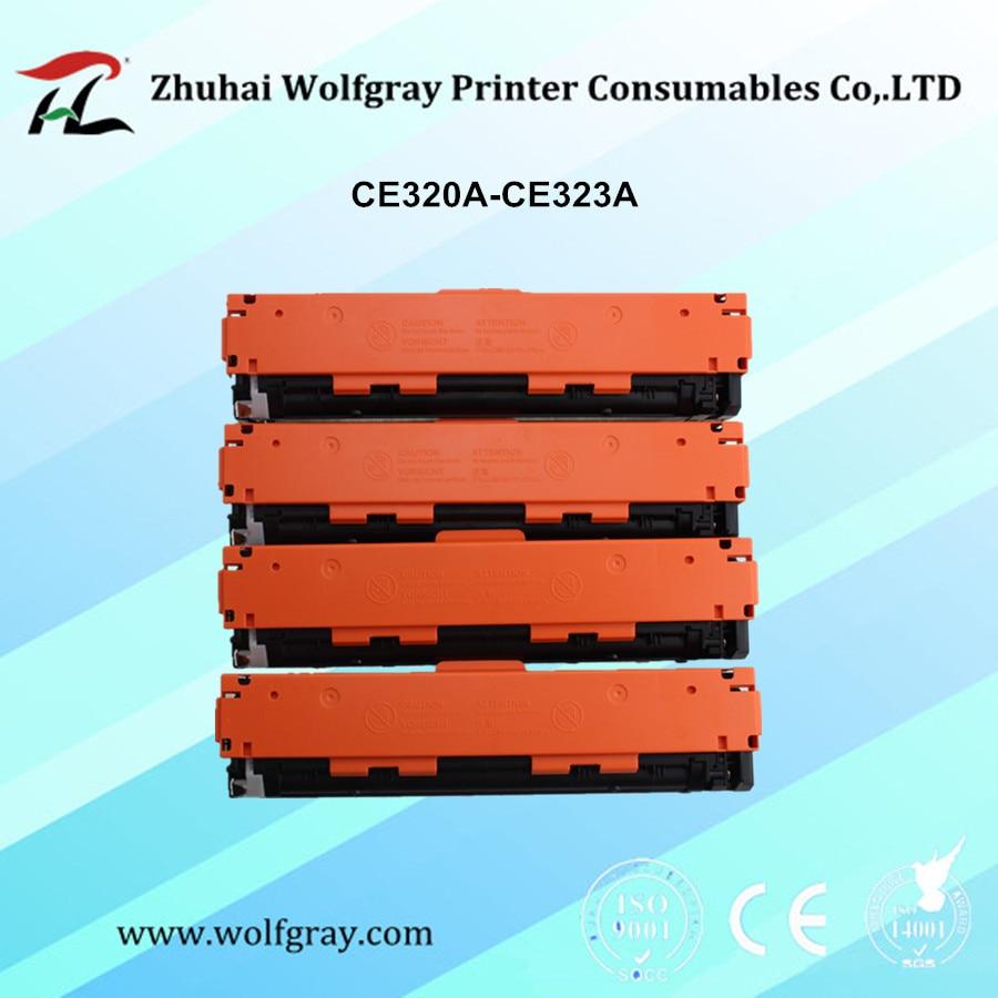 YI LE CAI съвместима 128A тонер касета 320a ce320 CE320A CE321A CE322A CE323A за HP LaserJet CP1525n / CP1525nw; Pro CM1415
