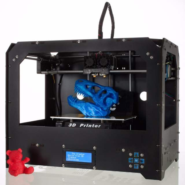 CTC Black Makerbot Replicator 2 3D Printer 2 Extruders + 0 3