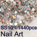 Top Quality Crystal  AB SS10 1440pcs Nail Art Rhinestones For DIY Decoration Nails Art Cell Phone And Clothes