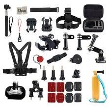 For Gopro Accessories Set Helmet Harness Chest Belt Head Mount Strap Monopod For Goro hero 5 Hero 4 3 SJCAM SJ4000 SJ5000