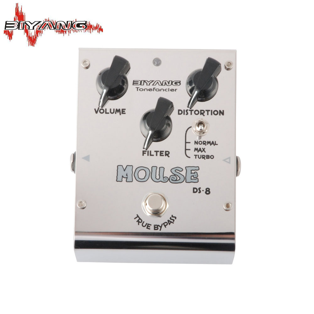 Biyang ToneFancier DS-8 Mouse Distortion 3 Mode Electric Guitar Effect Pedal True Bypass Brand New 283 D
