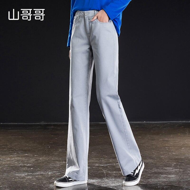 Shangege New High Wide Leg Pants Jeans Boyfriend Jeans For Women Grey Denim Woman Pants Spring Summer best in Jeans from Women 39 s Clothing