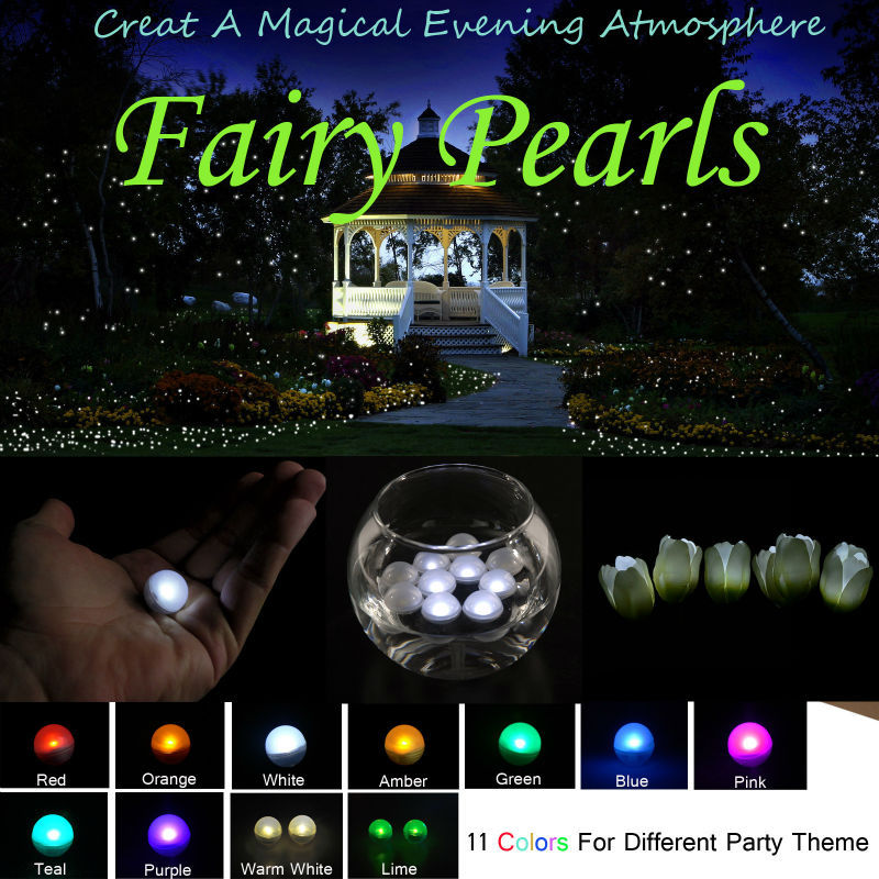 48pcs*Multicolor Flashing Ball Waterproof Fairy Pearls Floating Pool Lights wedding party decorations festival home garden light
