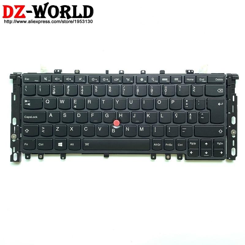 Nouveau clavier d'origine portugais rétro-éclairé PT pour Lenovo Thinkpad S1 Yoga 12 Portugal rétro-éclairage Teclado 04Y2938 04Y2642