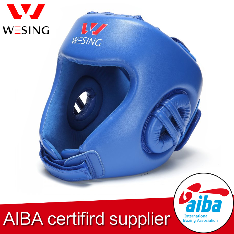 wesing aiba approved boxing headgear boxing head guard for competetion wesing aiba approved boxing gloves 12oz competition mma training muay thai kickboxing sanda boxer gloves red blue