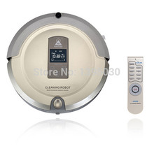 4pcs/lot Amtidy A325 Robot Vacuum Cleaner For Russian Virtual Wall, LCD Touch Screen, Remote Control, UV Lamp Sterilizer