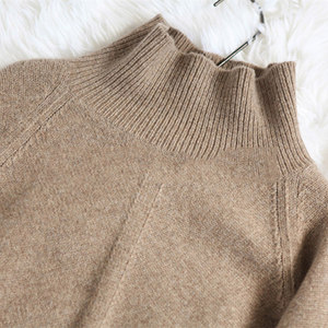 Image 5 - BELIARST Autumn and Winter New Cashmere Sweater Womens High Necked Pullover Loose Thick Sweater Short Paragraph Knit Shirt
