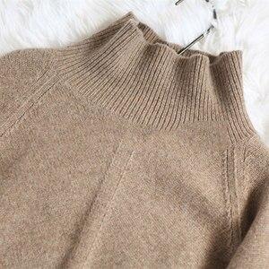 Image 5 - BELIARST סתיו וחורף חדש קשמיר סוודר נשים של סוודר צווארון גבוהים רופף עבה סוודר קצר סעיף לסרוג חולצה