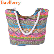 Baellerry New 2017 Female Summer Beach Bags Colorful Striped Shopping Big Tote Women Wristlets Handbags Messenger Shoulder Bags