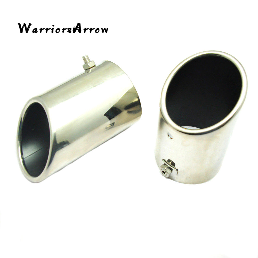 Stainless Steel Exhaust Muffler Tip Pair Tail Pipe Fit Honda Civic 2006-2011