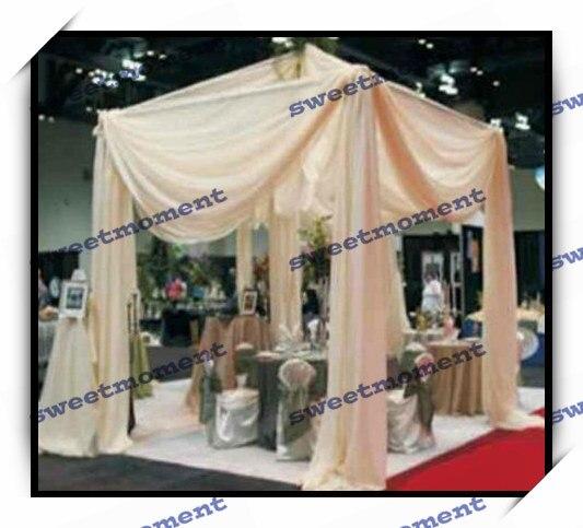 Champagne Color Wedding Reception Hall Curtain Wedding Canopy