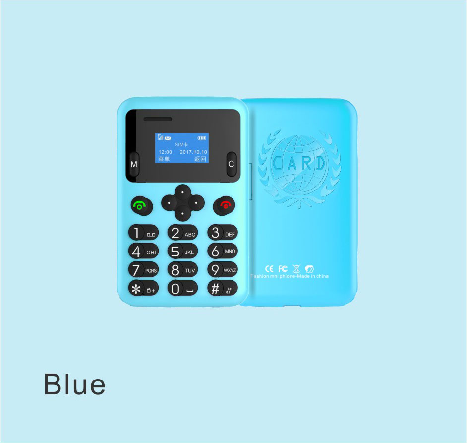 New Mini AEKU A6 Unlocked Mobile Phone Students Personality Children Low Radiation Multi-language PK AEKU C6 Card Phone