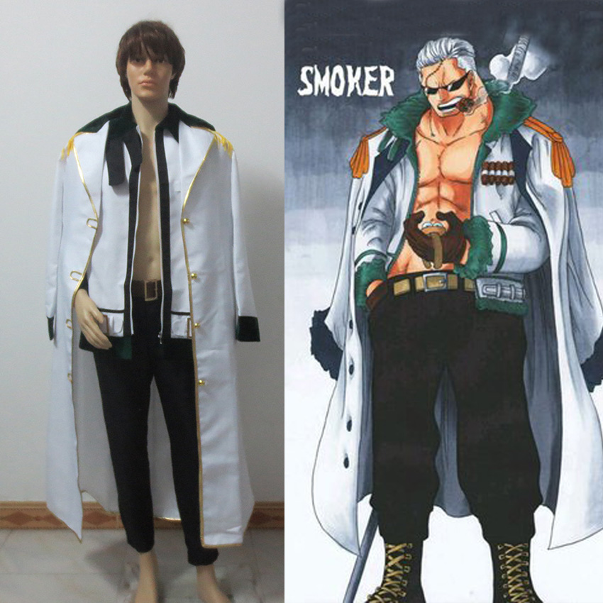Free Shipping One Piece Smoker Cosplay Costume Custom Made for Christmas