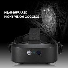 Gafas de visión nocturna Digital para exteriores, dispositivo con forma de máscara de ojos con imagen HD para caza, 60M