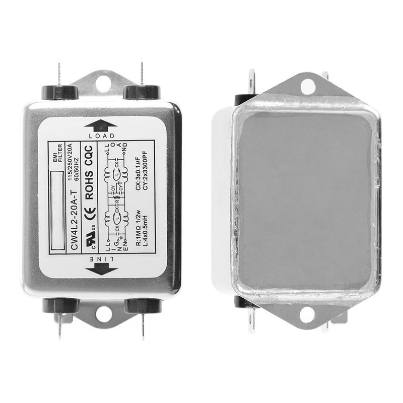 Power EMI Filter CW4L2-20A-T Monophasic Enhanced AC 220V 50/60 HZ New #Y05# #C05# emi 93% 2 2t33 2t30