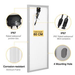 Image 4 - Dokio 12V 100W panneau solaire rigide chine 18V monocristallin silicium étanche panneau solaire Charge # DSP 100M
