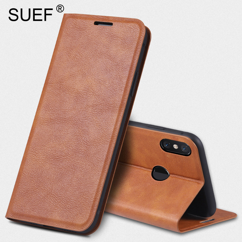 SUEF Vintage PU Leather Flip Cover Cases For xiaomi Mi Max <font><b>3</b></font> / Max <font><b>2</b></font> Redmi 8 6 6A 7 7A Note 7 8 Pro Phone Bags Stand wallet Card image