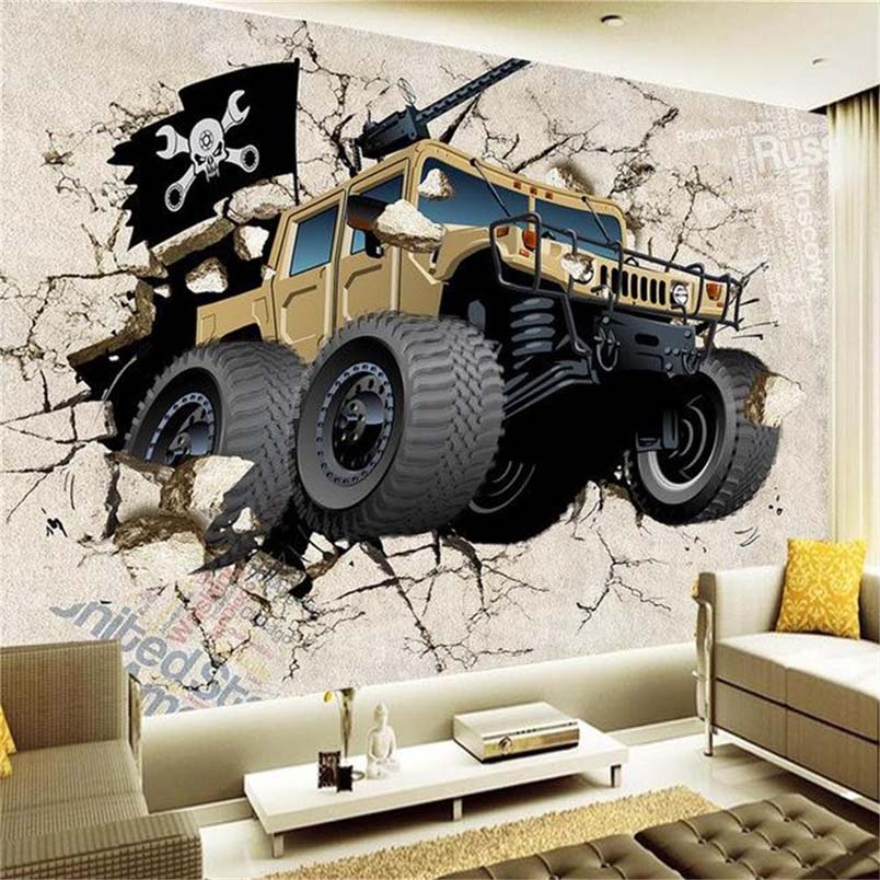 Online buy wholesale military wall murals from china for Army wallpaper mural