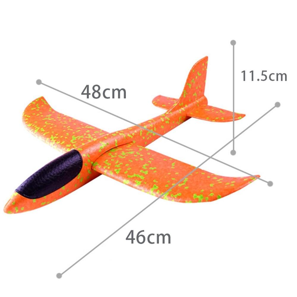 48CM mousse avion planeur main jeter avion planeur jouet avions EPP lancement en plein air enfants jouets pour enfants garçons cadeau 2