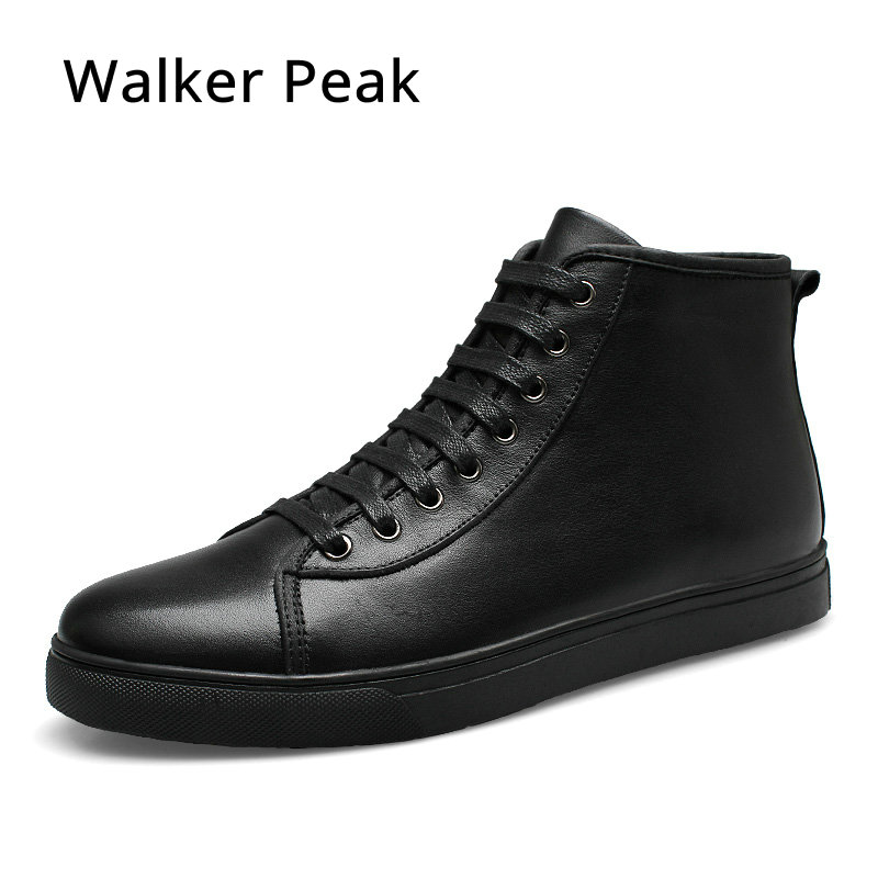 Genuine Leather Ankle Boots for men Business Chukka Mens Boots High Top Casual Shoes Outdoor Mens Winter Shoes Male Walker Peak y s 2016 new mens casual desert boots mans genuine leather flat shoes adults round toe ankle chukka adults quilted boots y 100