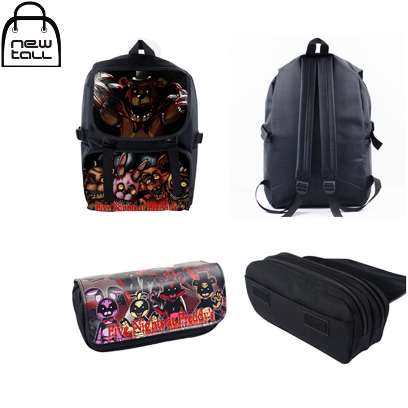 [NEWTALL] 2017 New Game Five Nights At Freddy's Characters FNAF Shoulder Bag Backpack+ Pencil Case G095