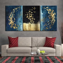 3 pieces Poster canvas painting Abstract animal art wall picture print posters Painting home decor