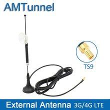 Antena 3G 4G LTE con antena TS9, 10dBi, 3G, cable 3M externo para Huawei E5373, E8372, E589, Vodafone R215, módem enrutador