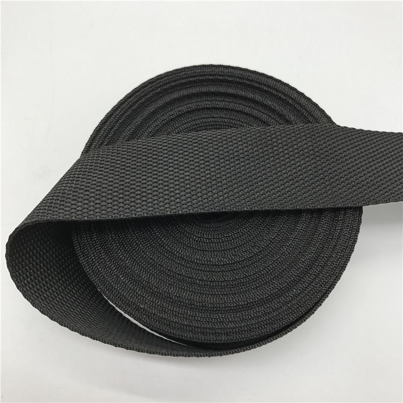 10 15mm 20mm 25mm 30mm 38mm 50mm Wide 5yards Black Strap Nylon Webbing Knapsack Strapping Bags Crafts