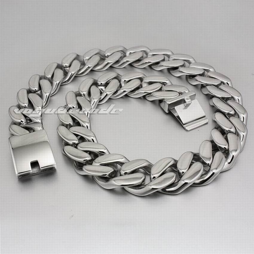 LINSION 18 ~ 36 Huge Heavy 316L Stainless Steel Mens Biker Rocker Punk Necklace 5P004N linsion 18 36 huge