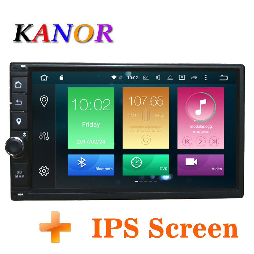 KANOR Octa Core RAM 4G ROM 32G 2 Din Android 8.0 Universal Car Audio Stereo Radio With GPS WiFi GPS Navigation Video Head Unit
