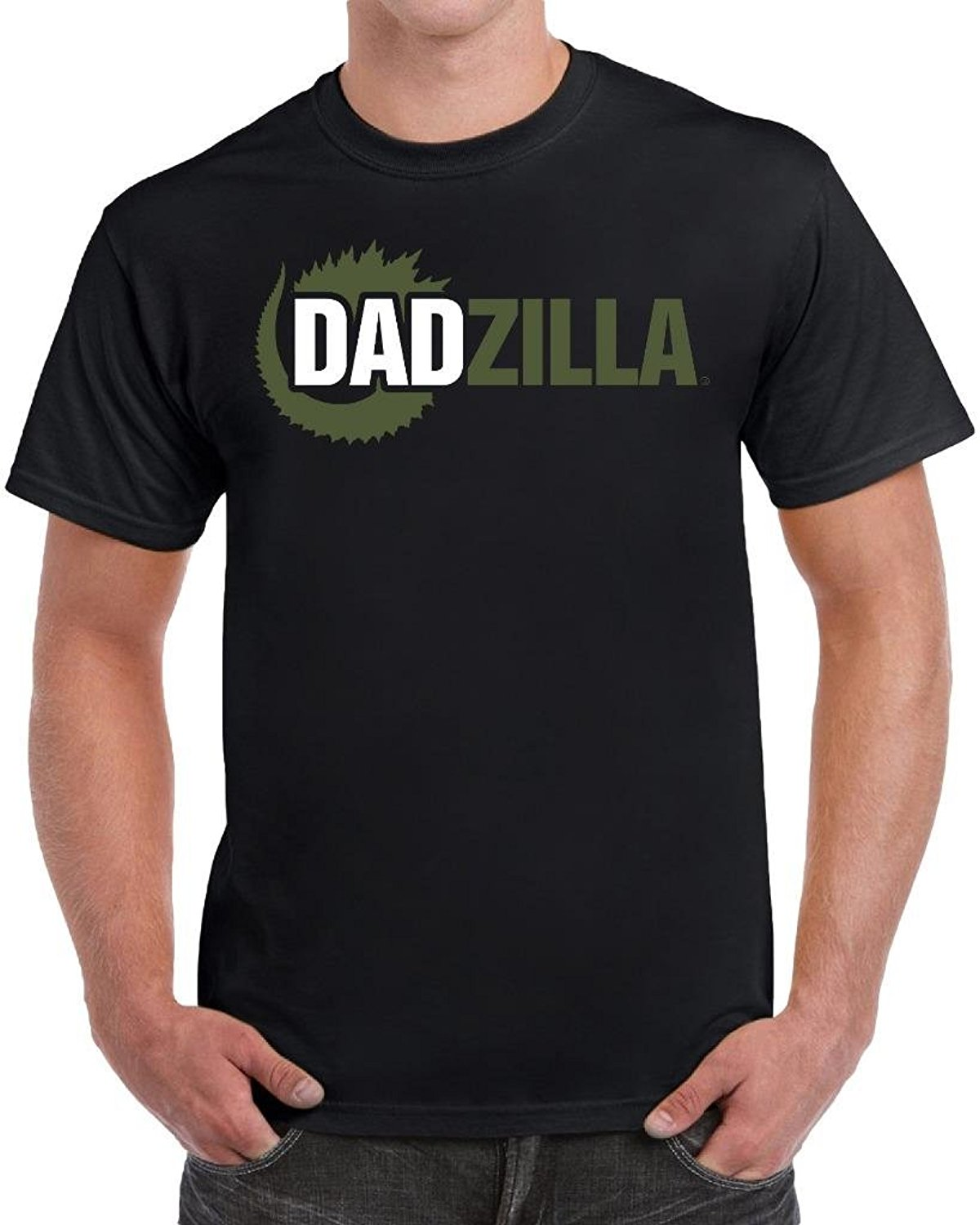 tees geek Dadzilla Birthday Gifts For Dad Fathers Day Novelty Parody T-Shirt