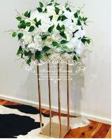 New metal gold color tall wedding flower stand for wedding table decoration