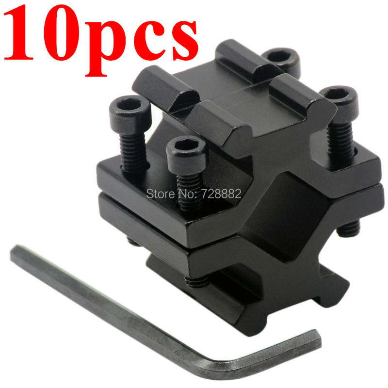 10pcs adjustable universal double rail 20mm picatinny weaver rail barrel mount adapter for scope. Black Bedroom Furniture Sets. Home Design Ideas