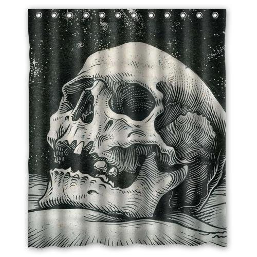 Painting Skull Custom Shower Curtain Bathroom Decor Fashion Design Various Sizes Free Shipping China
