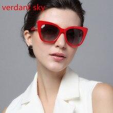 2017Uv400 New Fashion Classic Design Cat Eye Women Sunglasses  Frame Sexy Ladies Sun Glasses Eyewear oculos de sol Original box