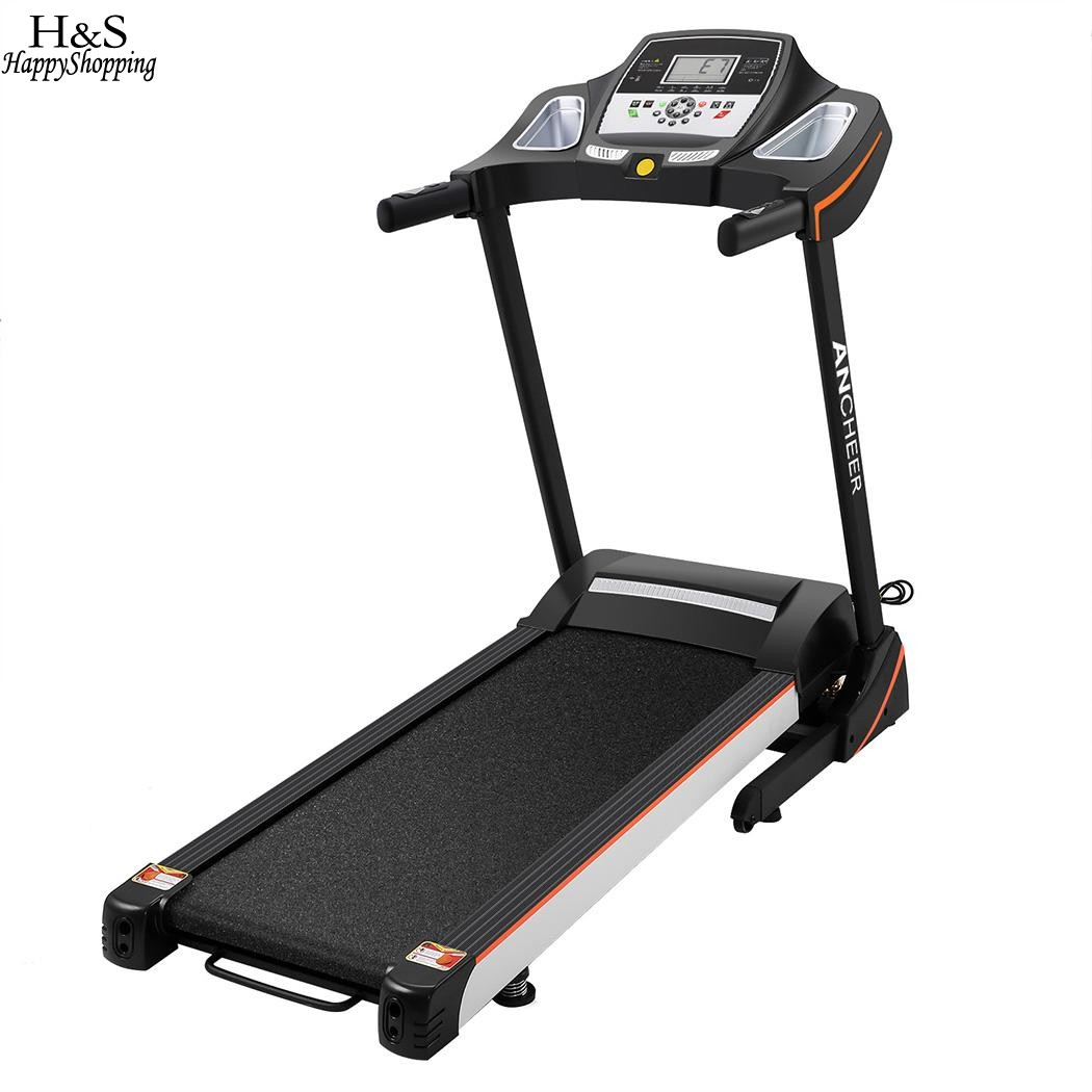 Electric Treadmill Fitness Folding Electric Treadmill Exercise Equipment Walking Running Machine Gym fitness 7 inch WiFi LED body building equipment gym equipment fitness equipment outdoor exercise equipment