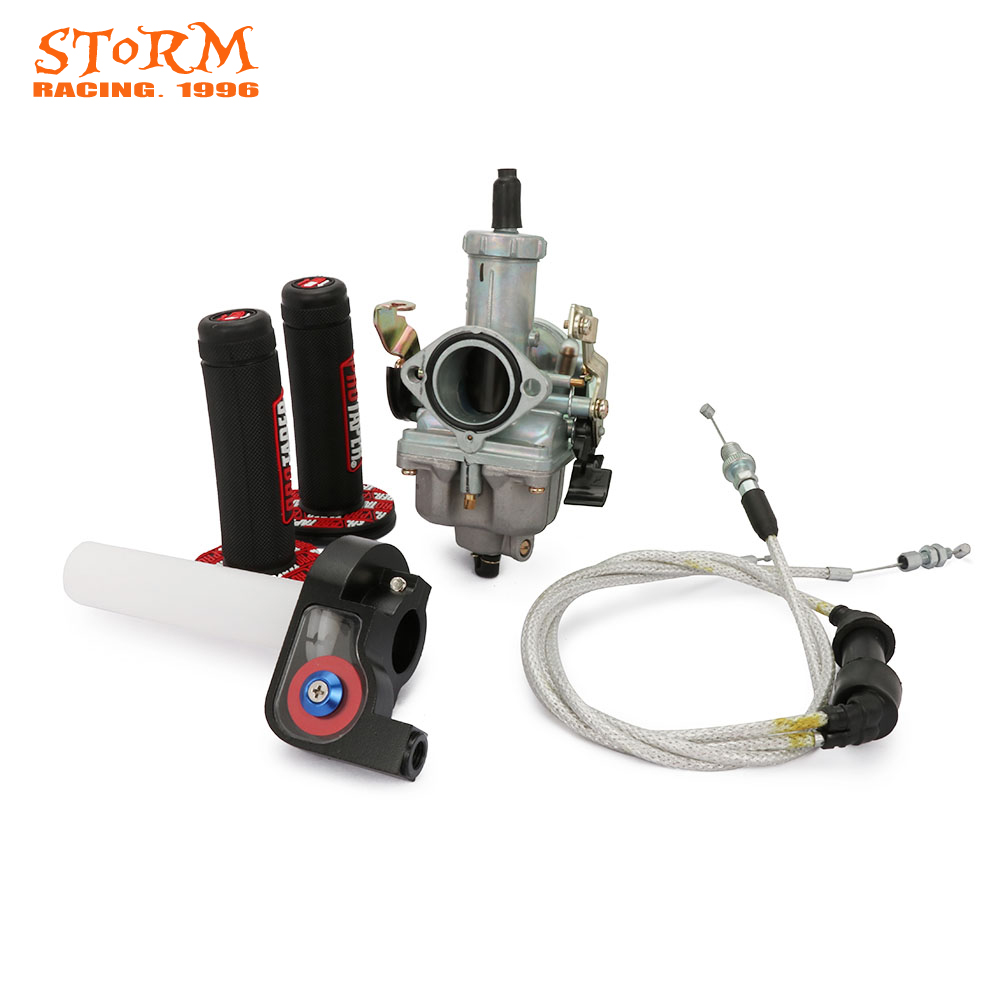PZ30 30mm Accelerare Pompa Carburatore Doppio Cavo Dell'acceleratore Pro Taper Manopole Per Keihin CB CG 200CC 250CC