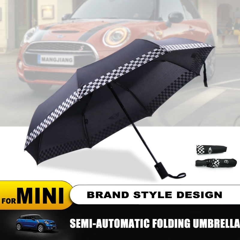 Completamente automático de coche plegable logotipo lluvia paraguas para MINI Cooper S R50 R53 R56 R60 F55 F56 socio compatriota roadster Paceman