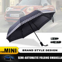 Fully-automatic Folding Car logo rain umbrella For MINI Cooper S R50 R53 R56 R60 F55 F56 Clubman Countryman Roadster Paceman