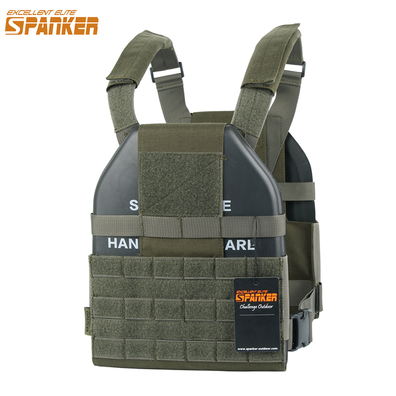 EXCELLENT ELITE SPANKER Tactical Vest Molle Ultra Light Hollow Plate Carrier Outdoor CS Hunting Military Nylon Vest Equipment