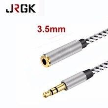JRGK 3.5mm de Áudio Cabo de Extensão Masculino para Feminino Plug Jack Aux Cabos de áudio & Vídeo Para Telefones Móveis iPhone MP3 fone de ouvido Cabo