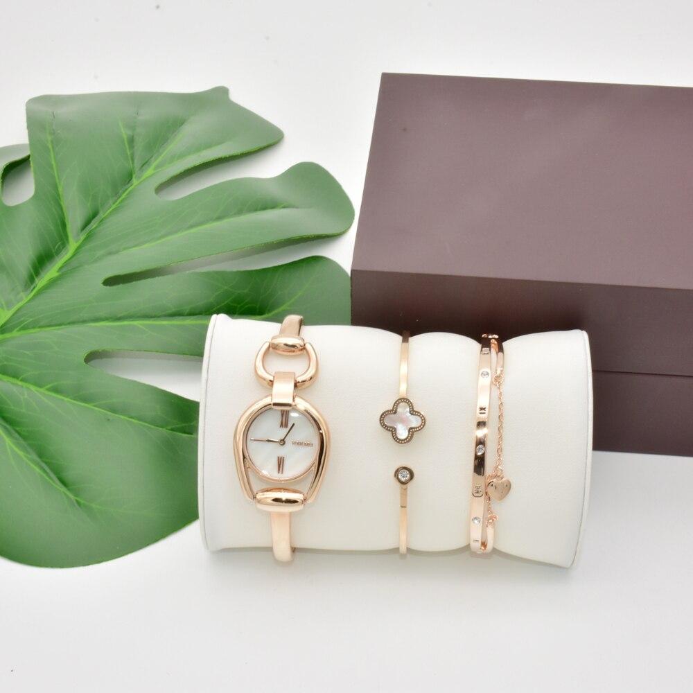 Mode marque femmes montres tendance dames ceinture mère de perle Shell cadran Quartz montres robe femmes cadeau ensemble avec boîte
