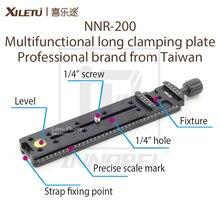 XILETU NNR 200 متعددة الوظائف طويلة لقط لوحة 200 مللي متر العقدي الشريحة ترايبود السكك الحديدية الإفراج السريع لوحة التصوير الملحقات