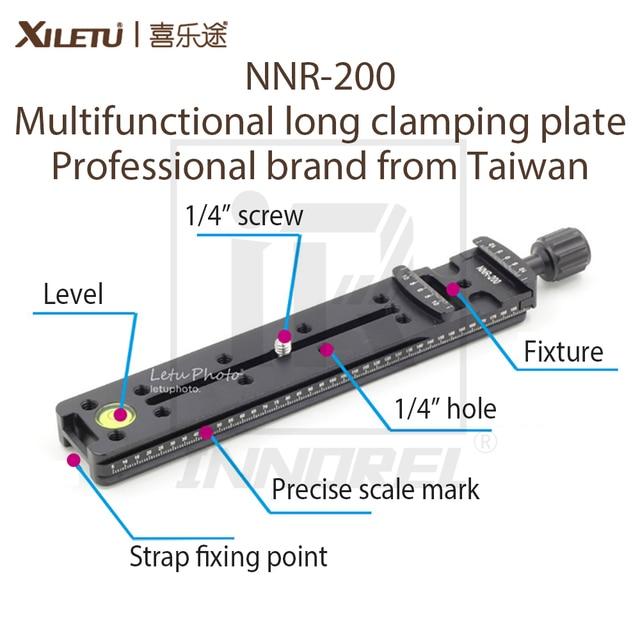XILETU NNR 200 çok fonksiyonlu uzun sıkma plakası 200mm Nodal slayt Tripod raylı hızlı bırakma plakası aksesuarları