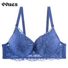 VVUES Seamless Bra Bralette Sexy Lace Plus Size Push Up Womens Underwire Full Cup Super Soft Lingerie Intimate Briefs