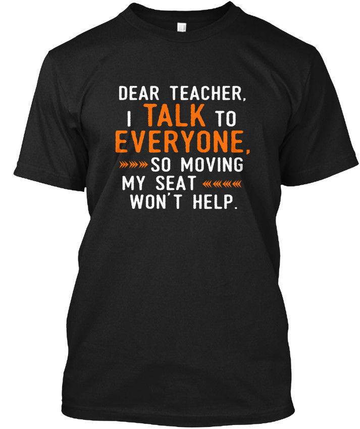 Дорогой учитель я говорю всем S-учитель, все, популярные Tagless футболка